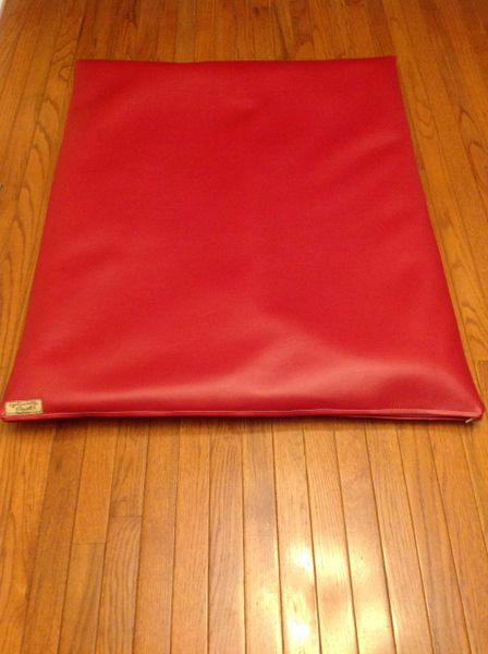 Large True Red Marine Vinyl flat mat