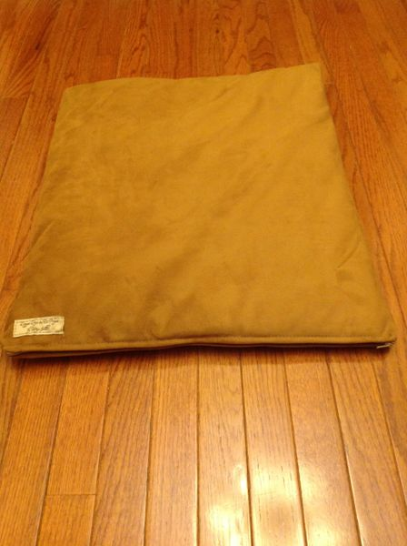 Small cat or dog cushioned cover with poly insert brushed velvet tan