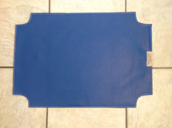 """Pet bowl place mat large royal blue marine vinyl approx. 23""""L x 16"""""""
