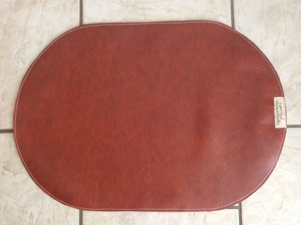 "Pet bowl place mat - rust - large - oval shaped - approx. 23""L x 16""W"