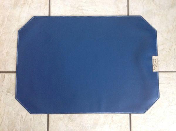 """Pet bowl place mat large - Marine vinyl - royal blue - approx. 23""""L x 16""""W"""