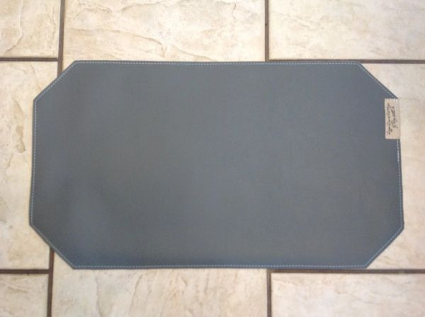 """Medium pet food bowl place mat-marine vinyl-double sided-beautiful gray color approx. 23""""L x 13""""W"""