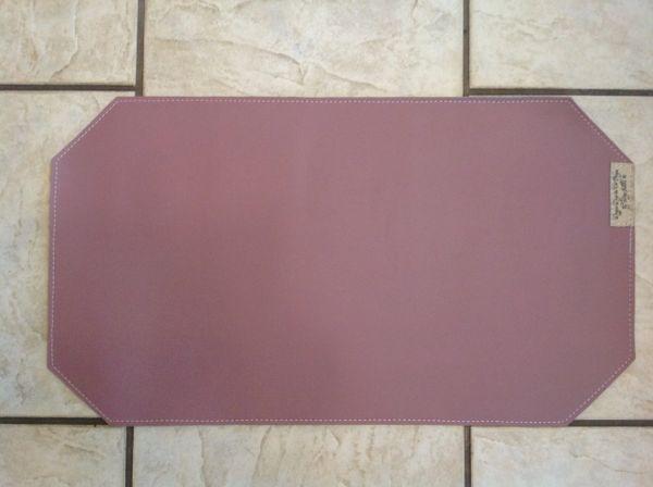 "Medium pet food bowl place mat-mauve-marine vinyl - double sided approx. 23""L x 13""W"