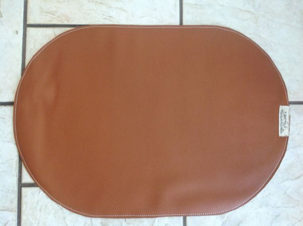 "Large Oval milk chocolate color pet bowl place mat Approximately 23""L x 16""W"