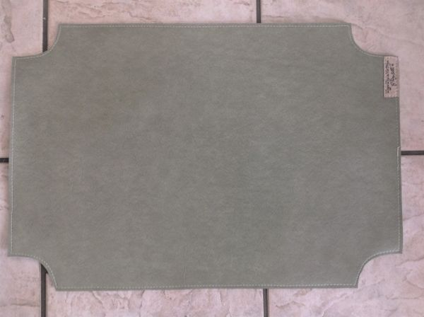 "Large Pet Bowl Place mat - light ever green color- rectangle with curved corners approximately 23""L x 16"" W"