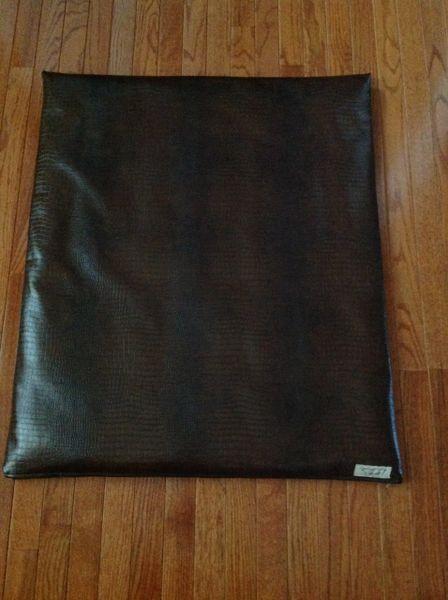 Mat - medium soft designer vinyl alligator look - rich chocolate & deepest chocolate
