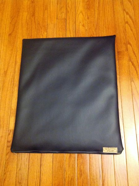 Mat - small - marine vinyl deep dark navy perfect for lap dogs or cats