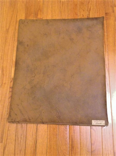 Mat - small designer vinyl faux leather look medium to darker browns
