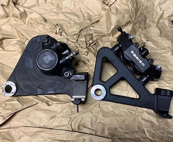 Radial Caliper Mount Harley Davidson FXR models Stock swingarm or Brocks