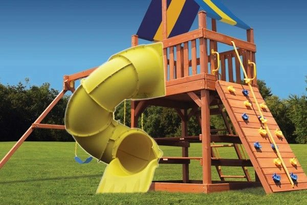 Fun Ride Spiral Slide