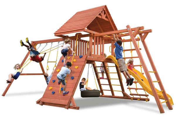 Original Playcenter Combo 3 with Wood Roof