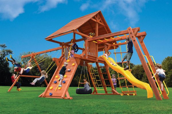 Deluxe Playcenter Combo 3 w/ Wood Roof