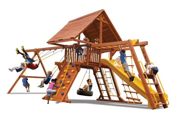 Turbo Deluxe Playcenter Combo 3 w/ Wood Roof