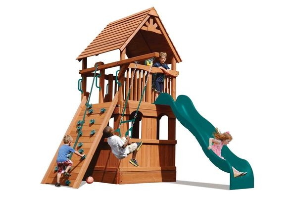 Deluxe Fort Jr. with Lower Enclosure Playhouse