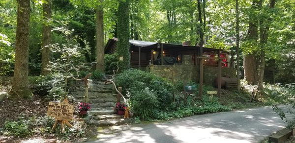 LOG CABIN at Bear Creek Lodge and Cabins in Helen Ga 1928 Hand Hewn Cabin  1 King/1 Full Sleeps 4