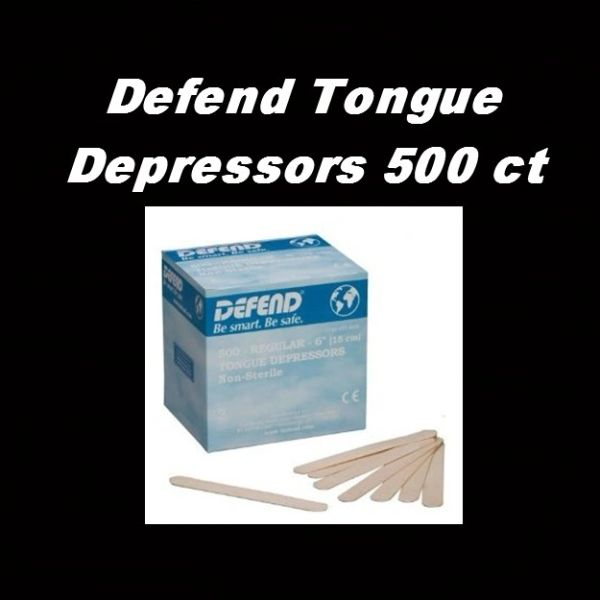 Defend Tongue Depressors 500 ct