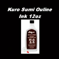Kuro Sumi Black Outlining Ink. 12 oz. bottle