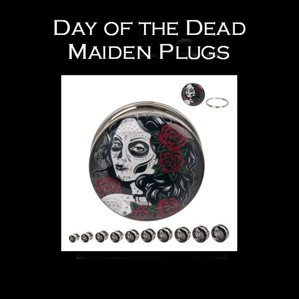 Day of the Dead Maiden Plugs