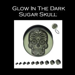 Glow In The Dark Sugar Skull Plug