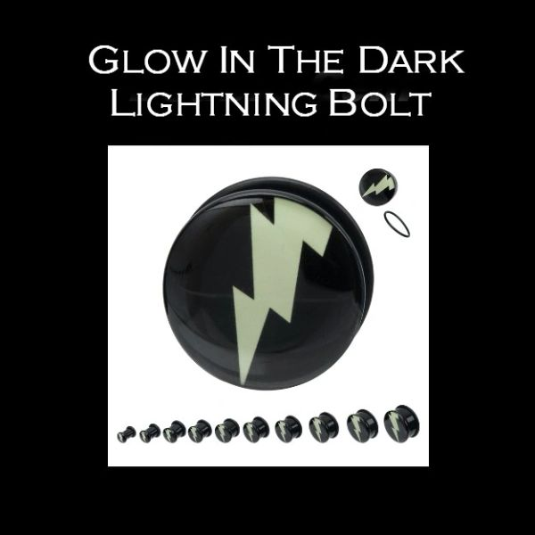 Glow In The Dark Lightning Bolt Plug