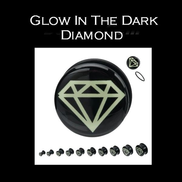 Glow In The Dark Diamond Plug