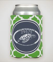 Blue/Green Coozie/Sea Turtle Logo! Insulated & Collapsible.