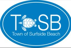 TOSB (Town Of Surfside Beach) Sea Turtle Logo Decal (4x6)