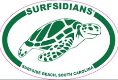 Green, No Zip Code, Surfsidians Sea Turtle decal