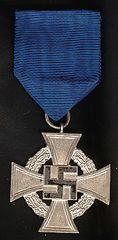 WW II GERMAN CIVILIAN 25 YEAR FAITHFUL SERVICE MEDAL