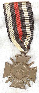WW II GERMAN CROSS OF HONOR 1914-1918