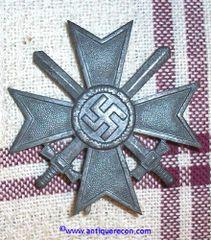 WW II GERMAN WAR MERIT CROSS 1st CLASS WITH SWORDS