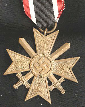 WW II GERMAN WAR MERIT CROSS 2ND CLASS WITH SWORDS