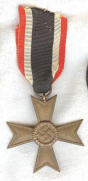 WW II NAZI GERMAN WAR MERIT CROSS 2nd CLASS WITHOUT SWORDS