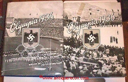 1936 NAZI GERMAN SUMMER & WINTER OLYMPICS CIGARETTE BOOKS