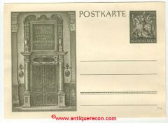 WW II GERMAN POST CARD CHAPEL OF MUNICH RESIDENT