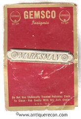 US ARMY MARKSMAN BAR - 1950's OBSOLETE - GEMSCO