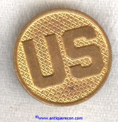 US ARMY ENLISTED US COLLAR DISK - 1920-1930's