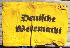 WW II GERMAN DEUTSCHE WEHRMACHT ARM BAND