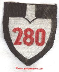 WW II GERMAN RAD GROUP 280 OFFICER ARM PATCH