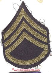 WW II US ARMY STAFF SARGENT RANK STRIPES - used
