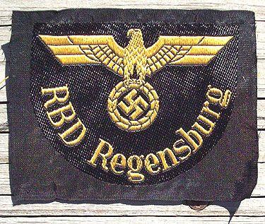 WW II GERMAN RBD REGENSBURG SHOULDER PATCH