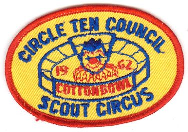 BOY SCOUT CIRCLE TEN COUNCIL 1962 SCOUT CIRCUS PATCH - COTTON BOWL