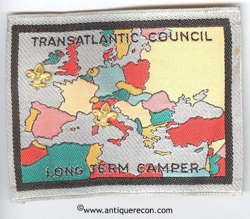 BOY SCOUT TRANSATLANTIC COUNCIL LONG TERM CAMPER PATCH