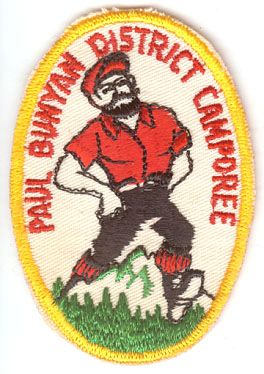 BOY SCOUTS PAUL BUNYON DISTRICT CAMPOREE PATCH 1960's