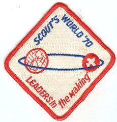BOY SCOUTS SCOUTS WORLD 1970 LEADERS IN THE MAKING PATCH