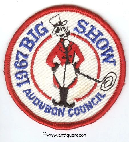 BSA AUDUBON COUNCIL 1967 BIG SHOW PATCH