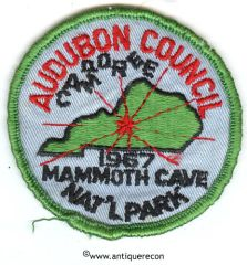 BSA AUDUBON COUNCIL CAMPOREE 1967 MAMMOTH CAVE PATCH