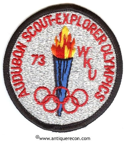 BSA AUDUBON SCOUT EXPLORER OLYMPICS 1973 PATCH