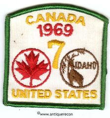 BSA CANADA UNITED STATES CAMPOREE 1969 PATCH