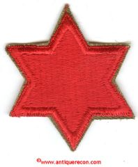 WW II US 6th INFANTRY DIVISION PATCH